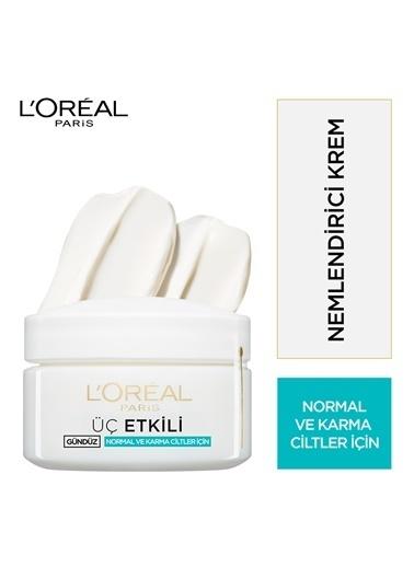 L'Oréal Paris 3 Etkili Günlük Bakım Kremi Normal Ve Karma Ciltler 50Ml Renkli